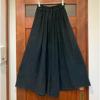 nest Robe - 【送料無料】ヂェン先生の日常着 厚手 ワイドパンツ キュロットパンツ 黒