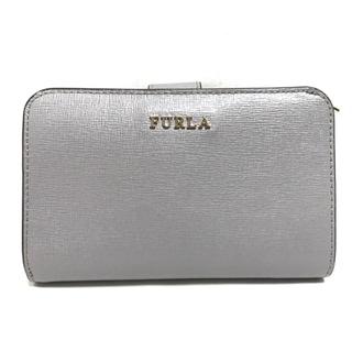 フルラ(Furla)のフルラ 2つ折り財布美品  グレー レザー(財布)