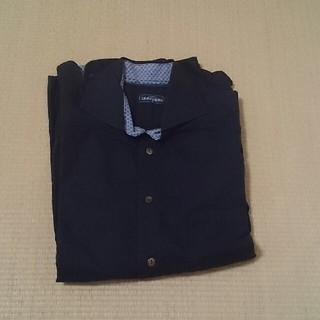 メンズ カッターシャツ 長袖 黒 M(シャツ)