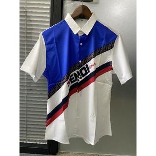 フェンディ(FENDI)の❥fendiフェンディ☆ ワイシャツ  Tシャツ 半袖 メンズ XXL(Tシャツ/カットソー(半袖/袖なし))