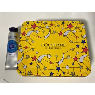 ロクシタン(L'OCCITANE)のロクシタン空き缶 ミニハンドクリーム付(小物入れ)