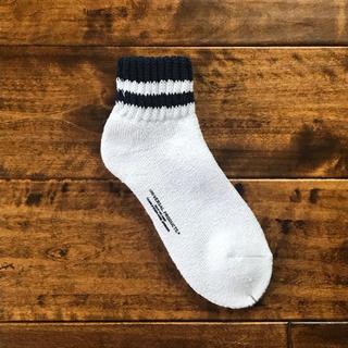 ワンエルディーケーセレクト(1LDK SELECT)の【新品未使用品】UNIVERSAL PRODUCTS ソックス 靴下 ネイビー(ソックス)