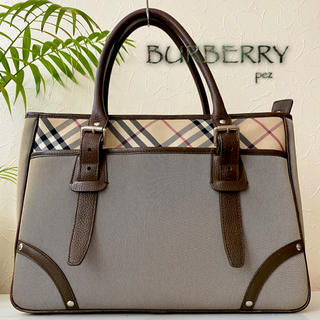 BURBERRY - 美品 BURBERRY バーバリー 約10万 レザートートバッグ