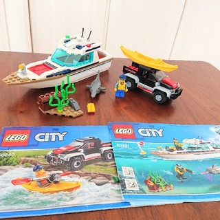 Lego - レゴシティ LEGO 60221 ダイビングヨット 60240 オフロードカー