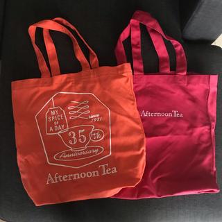 AfternoonTea - 未使用 アフタヌーンティー トートバッグ エコバッグ 赤 オレンジ バッグ A4