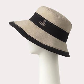 Vivienne Westwood - ヴィヴィアンウエストウッド コットン 2トーンダウンハット 帽子