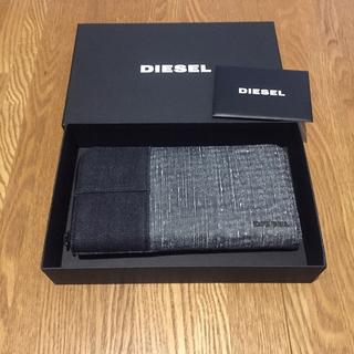 ディーゼル(DIESEL)の【新品未使用】DIESEL ディーゼル メンズ 羊革 デニム 長財布(長財布)
