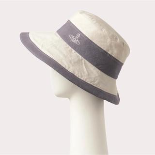 ヴィヴィアンウエストウッド(Vivienne Westwood)のヴィヴィアンウエストウッド コットン 2トーンダウンハット 帽子(ハット)