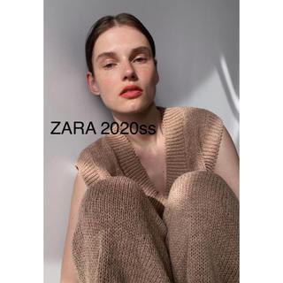 ザラ(ZARA)の完売品✨新品 ZARA 2020ss   スリット入りニットベスト(ニット/セーター)