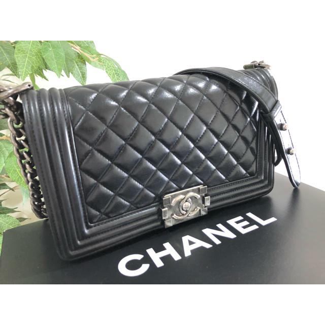 CHANEL(シャネル)のありす様専用 ボーイシャネル チェーンショルダーバッグ ブラック レディースのバッグ(ショルダーバッグ)の商品写真