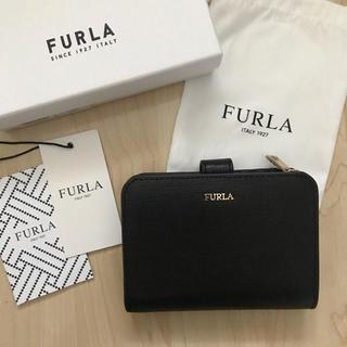 フルラ(Furla)の新品!フルラ FURLA 二つ折り財布 ブラック 黒(財布)
