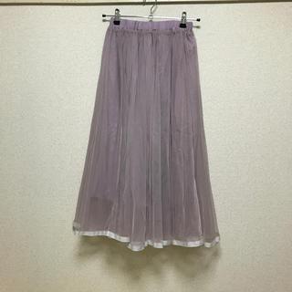 ロディスポット(LODISPOTTO)のピンクパープルのギャザースカート(ロングスカート)