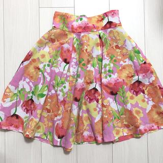 マーキュリーデュオ(MERCURYDUO)のマーキュリーデュオ 花柄スカート(ひざ丈スカート)