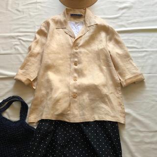 ラルフローレン(Ralph Lauren)のラルフローレンリネンシャツ オープンカラーシャツRALPHオーバーサイズ大きい(シャツ/ブラウス(長袖/七分))