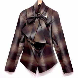 Vivienne Westwood - 新品タグ付き ヴィヴィアンウエストウッド アングロマニア リボン 変形 シャツ