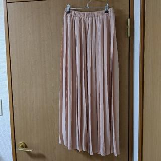 ユメテンボウ(夢展望)のピンクのプリーツスカート(ロングスカート)