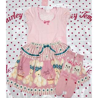 Shirley Temple - 新品 シャーリーテンプル スカート + トップス+ ソックスセット
