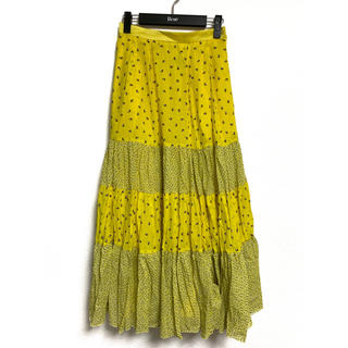 Drawer - 定価14.8万 Drawer ドゥロワー 切り替えティアードスカート