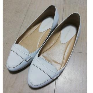 オデットエオディール(Odette e Odile)のオデットエオディール 白 21.5(ローファー/革靴)