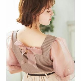 INGNI - 【新品】袖シアーバックリボン/トップス!!【イング】