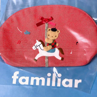 familiar - 【新品タグ付】familiar デニムポーチ 2020新作