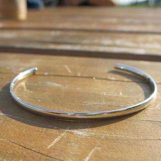 シルバーバングル シンプルバングル ブラス製