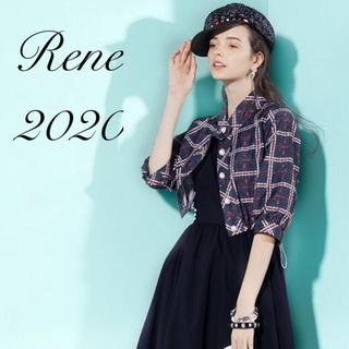 René - 未使用 Rene♡今期2020年 DM掲載リントン社製ツィードプリントジャケット