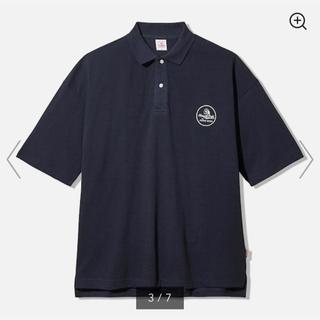 ジーユー(GU)の紺色 ネイビー XXL gu studio seven big polo 5分袖(ポロシャツ)