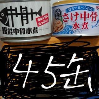 さけ 鮭 銀鮭 中骨 水煮 サケ 45缶 キョクヨー 宝幸 HOKO 缶詰(缶詰/瓶詰)