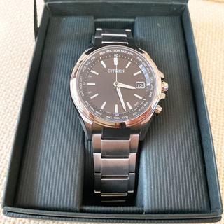 シチズン(CITIZEN)のシチズン アテッサ メンズ 電波腕時計 ブラック プレゼント 時計(腕時計(デジタル))