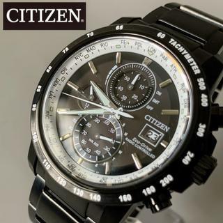 シチズン(CITIZEN)の【新品】高級シチズン 電波ソーラー クロノグラフ CITIZEN エコドライブ(腕時計(デジタル))
