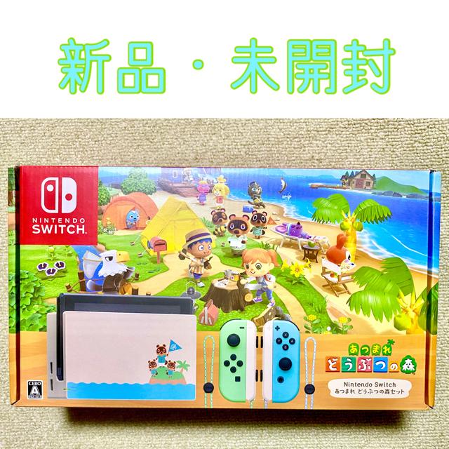 Nintendo Switch(ニンテンドースイッチ)のNintendo Switch あつまれどうぶつの森セット エンタメ/ホビーのゲームソフト/ゲーム機本体(家庭用ゲーム機本体)の商品写真