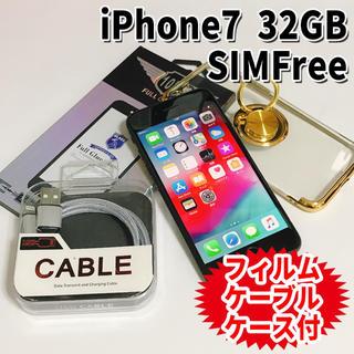 アップル(Apple)のSIMフリー iPhone7 32GB 36 ブラック 新品電池交換済(スマートフォン本体)