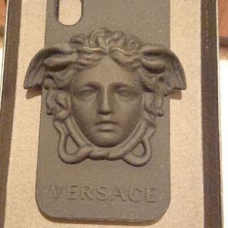 ヴェルサーチ(VERSACE)の送料無料☆VERSACE☆Medusa☆ロゴ入り☆iPhone Xケース(iPhoneケース)