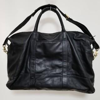 コーチ(COACH)の【 COACH 】レザーBlack Big Boston Bag(ボストンバッグ)