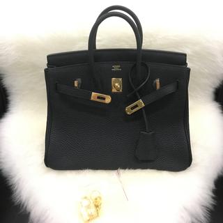 新品ブラック黒トゴ本革バーキン 25 タイプ ゴールド金具オーダーバッグ