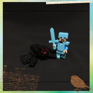 マイクラ レゴ 互換品 ダイヤモンド 装備 スティーブ 毒グモ