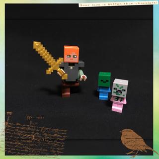 マイクラ レゴ 互換品 赤ちゃんゾンビ チビゾンビ アレックス 鎧装備