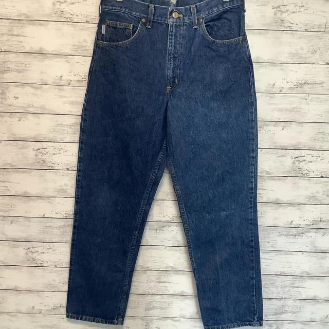 carhartt(カーハート)のcarhartt 90's デニム 革パッチ ヴィンテージ レア メンズのパンツ(デニム/ジーンズ)の商品写真