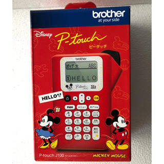brother - ディズニー ミッキー ブラザー ラベルライター ピータッチ レッド