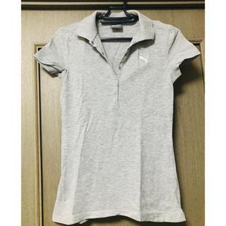 PUMA - PUMA レディース ポロシャツ 灰色 used