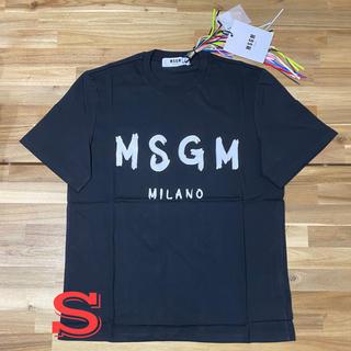 MSGM - 新品 MSGM エムエスジーエム ロゴTシャツ メンズ ブラック 黒S ブランド