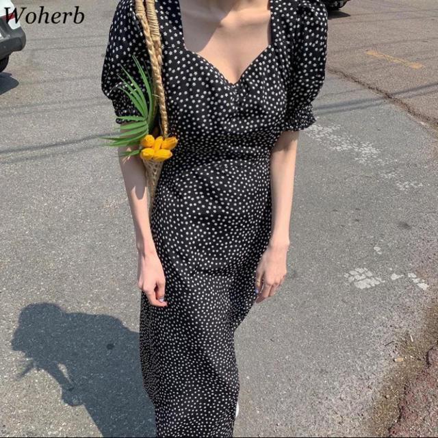 heather(ヘザー)の小花柄 ワンピース レディースのワンピース(ロングワンピース/マキシワンピース)の商品写真
