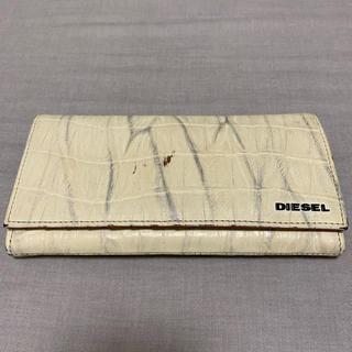 ディーゼル(DIESEL)のdms2853 DIESEL ディーゼル 型押し レザー 長財布 ウォレット(長財布)