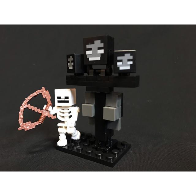 マイクラ レゴ 互換品 ウィザー スケルトン キッズ/ベビー/マタニティのおもちゃ(積み木/ブロック)の商品写真