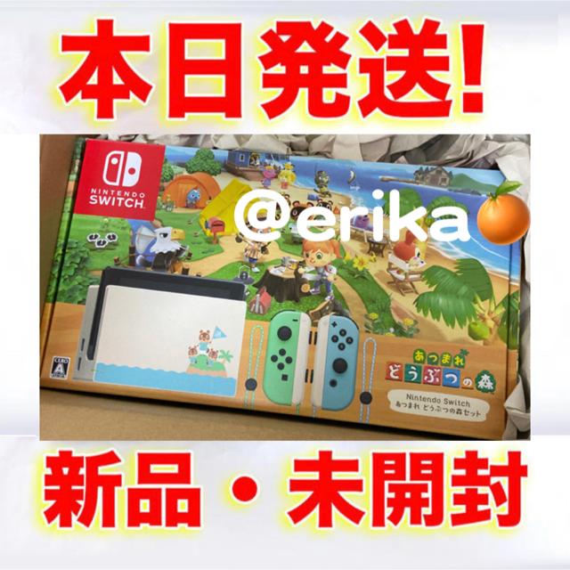 Nintendo Switch(ニンテンドースイッチ)のニンテンドー スイッチ あつまれどうぶつの森 同梱版 新品未開封 二台セット エンタメ/ホビーのゲームソフト/ゲーム機本体(家庭用ゲーム機本体)の商品写真