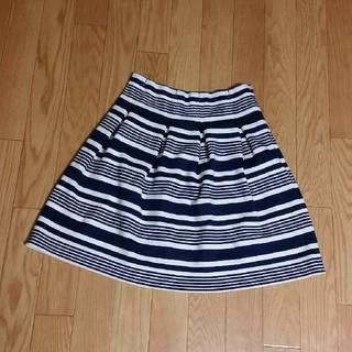 マーキュリーデュオ(MERCURYDUO)のMERCURYDUO ボーダースカート(ひざ丈スカート)