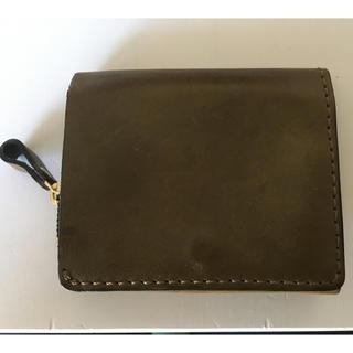 ヘルツ(HERZ)のHERZ 小型の二つ折り財布 グリーン キャッシュレス対応 中古 ※送料負担(財布)
