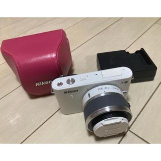 ニコン(Nikon)のNikon J1 zoom lens Kit ホワイト中古(カメラケース付き)(ミラーレス一眼)
