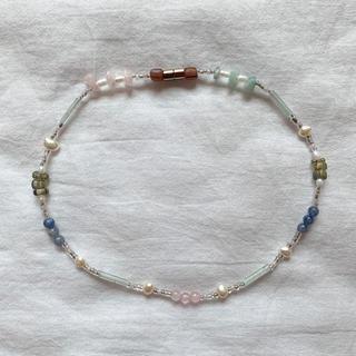 Glass beads choker necklace No.30 一点物
